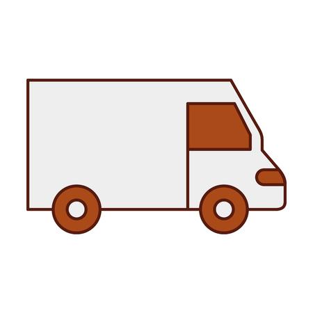 Vrachtwagen pictogram bestelwagen dienst transport zakelijke vectorillustratie Stockfoto - 90305151