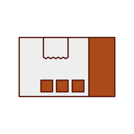 Delivery cardboard box pack cargo icon, vector illustration.