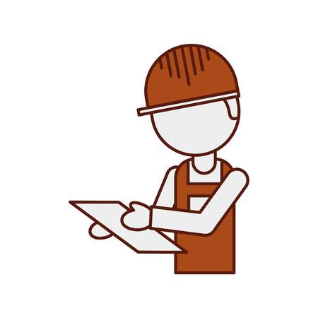 手と制服のベクトル図でクリップボードとワーカー ロジスティック配信  イラスト・ベクター素材