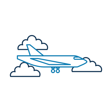delivery cargo airplane logistic transport shipping vector illustration Stock Vector - 90305207