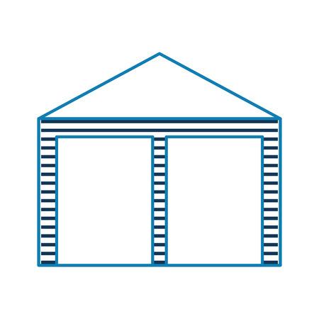 warehouse building exterior commercial empty vector illustration Vettoriali