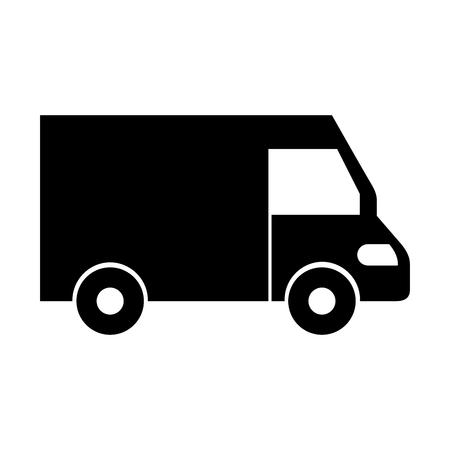 トラック アイコン配信バン サービス トランスポート事業ベクトル図