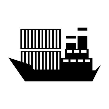 sea transportation logistic freight shipping cargo ship vector illustration Stock Vector - 90305246