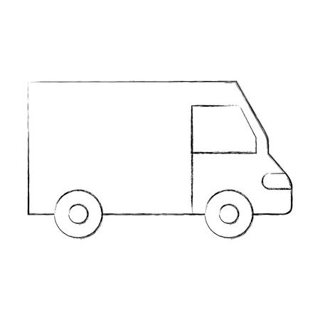Vrachtwagen pictogram bestelwagen dienst transport zakelijke vectorillustratie Stockfoto - 90305251