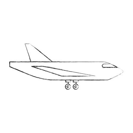levering vrachtvliegtuig logistiek vervoer verzending vector illustratie