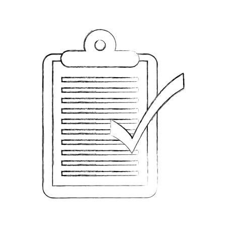 logistieke levering checklist Klembord ok vectorillustratie