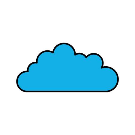 雲空分離アイコン ベクトル イラスト デザイン