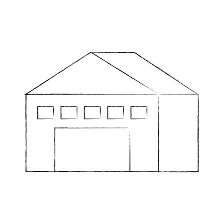 entrepôt bâtiment extérieur vide vecteur vide illustration