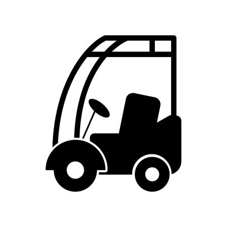 기계 자동차 상업 물류 차량 벡터 일러스트 레이션