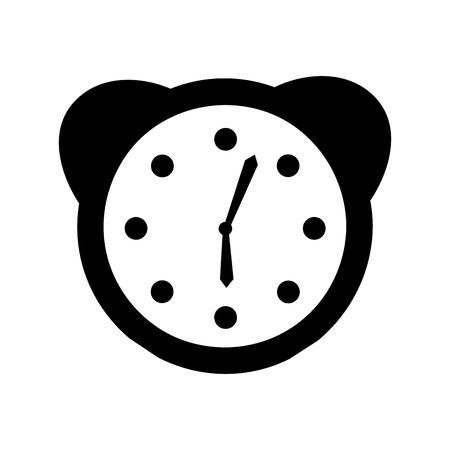 Guardi la progettazione dell'illustrazione di vettore dell'icona della sveglia Archivio Fotografico - 90305452