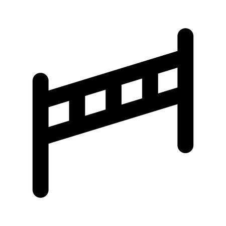 Hek geïsoleerd houten pictogram vector illustratie ontwerp Stockfoto - 90305463