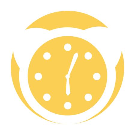 watch alarm clock icon vector illustration design