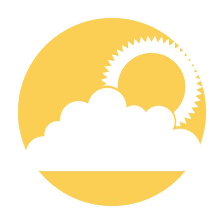 太陽ベクトルイラストデザインの雲空