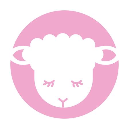 Cute lamb character icon vector illustration design Stock Vector - 90305519