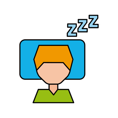 Sleeping man avatar icon vector illustration design Illustration