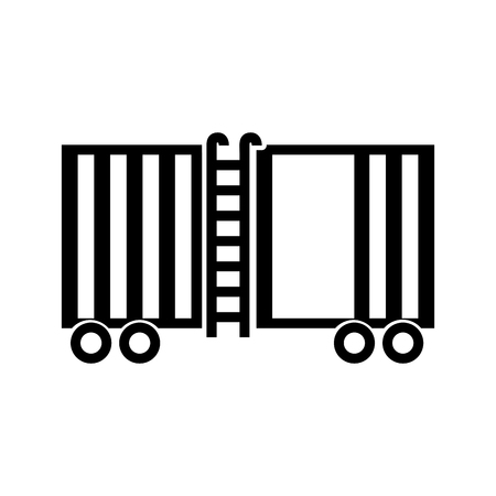 freight train cargo car container and logistics transport design element vector illustration