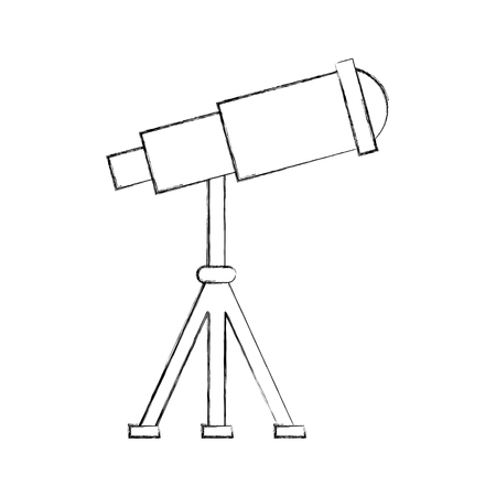 telescope device spacial icon vector illustration design