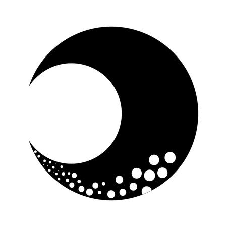 Luna cute isolato icona illustrazione vettoriale di progettazione Archivio Fotografico - 90305572