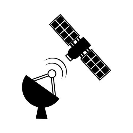 artificial satellite spacial icon vector illustration design Illusztráció