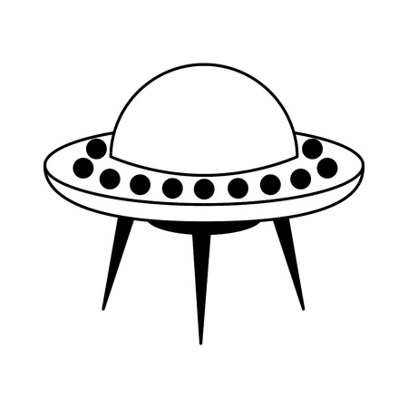 Illustrazione vettoriale illustrazione icona di oggetti volanti non identificati Archivio Fotografico - 90305639