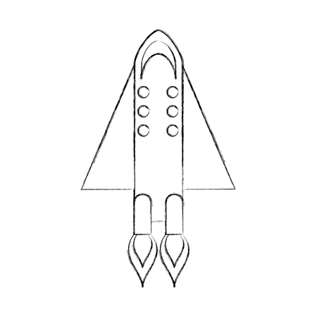 rocket space isolated icon vector illustration design