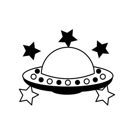 unidentified flying object with stars vector illustration design 版權商用圖片 - 90305687