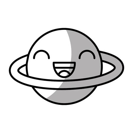 saturn planet comic character vector illustration design Illustration