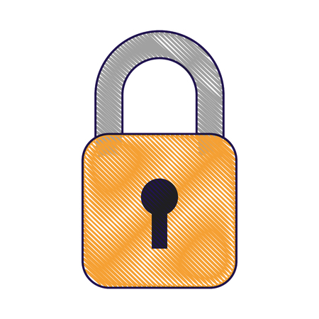 security data information technology padlock button vector illustration