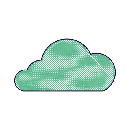 cloud technology data storage information vector illustration Illustration