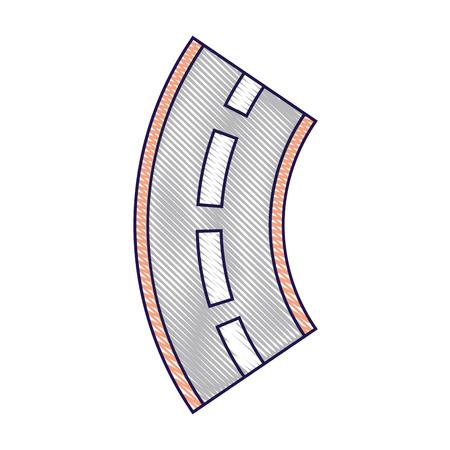 道路街路ナビゲーション要素ベクトル図を巻き  イラスト・ベクター素材