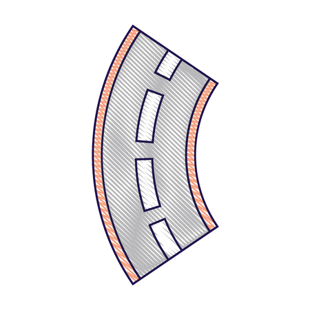 road winding street navigation element vector illustration