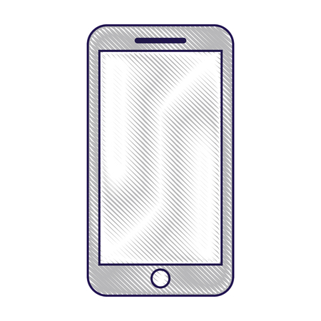 mobile phone smart device gadget vector illustration Illusztráció