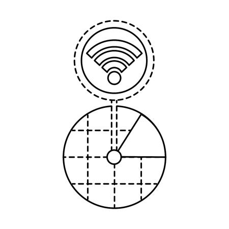 gps ナビゲーション画面のポインター マップ wifi 接続ベクトル図