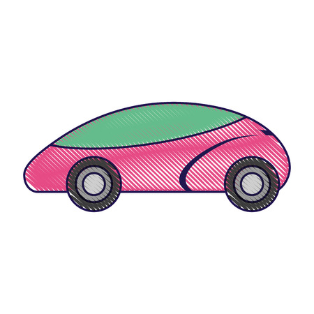 smart car autonomous self driving technology vector illustration 向量圖像