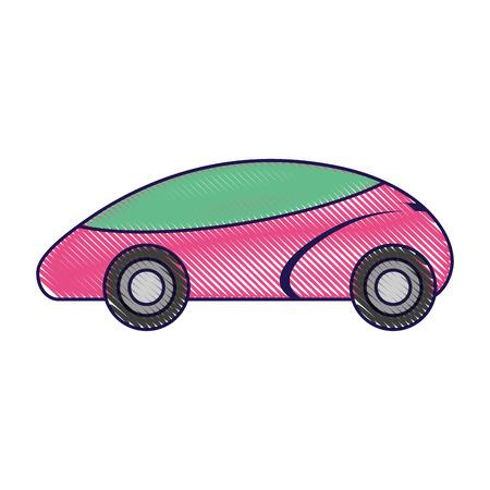 smart car autonomous self driving technology vector illustration Illustration