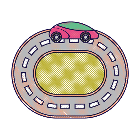 car road street highway direction plan vector illustration 向量圖像