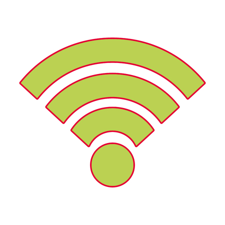 wifi internet connection signal wave vector illustration