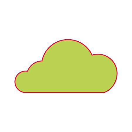 cloud technology data storage information vector illustration Illustration