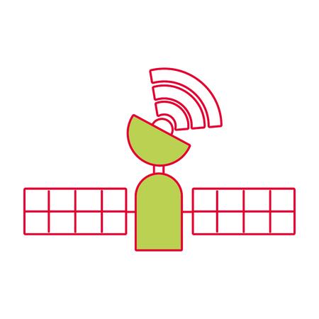 위성 gps 기술 추적 무선 벡터 일러스트 레이션