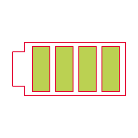 battery icon with full power charged electric vector illustration Stock fotó - 90299772
