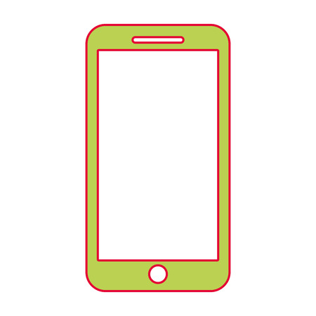 mobile phone smart device gadget vector illustration Stock fotó - 90312364