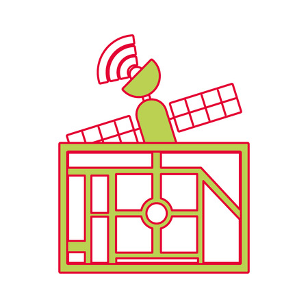 kaart navigatie satelliet signaal toepassing bestemming vectorillustratie