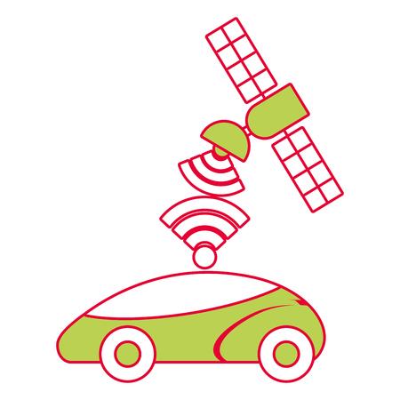 Gps navigation satellite aide de la liberté signal de la route illustration vectorielle Banque d'images - 90312365
