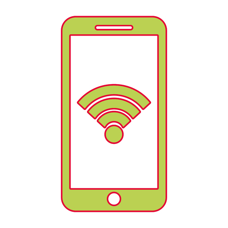 Smartphone wifi internet with gps navigation app, vector illustration. Фото со стока - 90307940