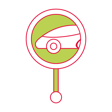 Gps navigation with pointer map car location, vector illustration.