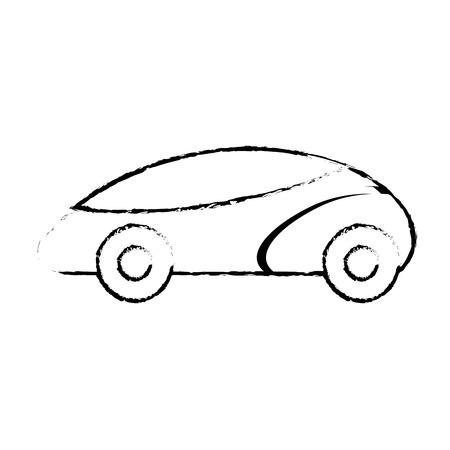 Smart car autonomous self driving technology, vector illustration. Illustration