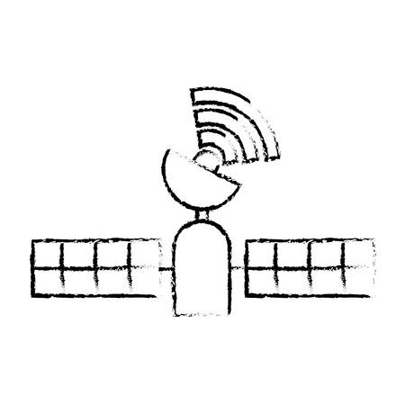 Technologie gps satellite suivi sans fil, illustration vectorielle. Banque d'images - 90308013