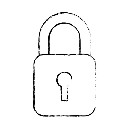 Security data information technology padlock button, vector illustration.