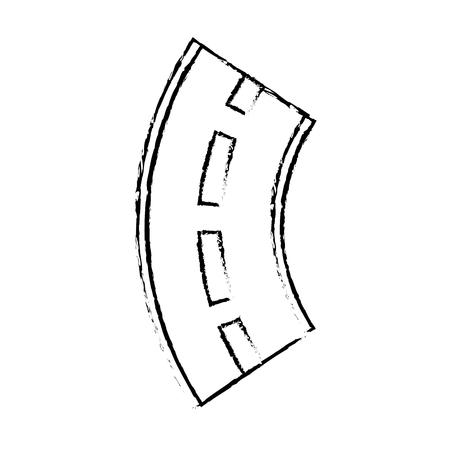 Road winding street navigation element, vector illustration.