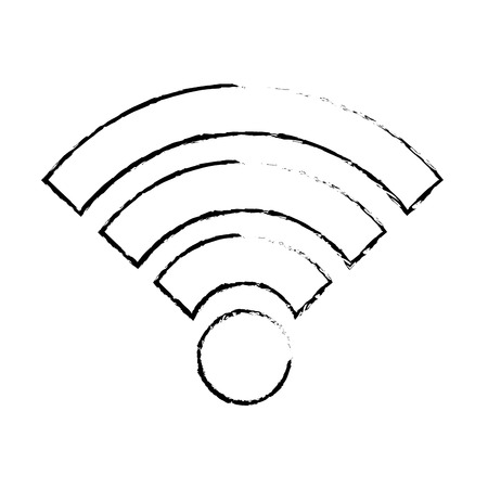 Wifi internet connection signal wave, vector illustration.